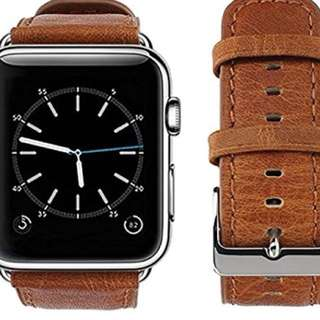 Apple Watch band 42mm - Old brown 皮帶