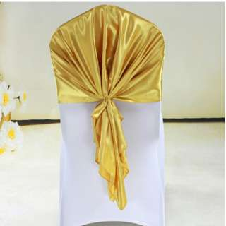 Used 6pcs gold chair color tie ribbon