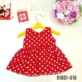 [READY STOCK]  🌸 Polkadots Dress