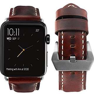 Apple Watch band 38mm / 42mm - Brown 皮帶