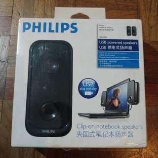 Philips clip-on laptop speakers