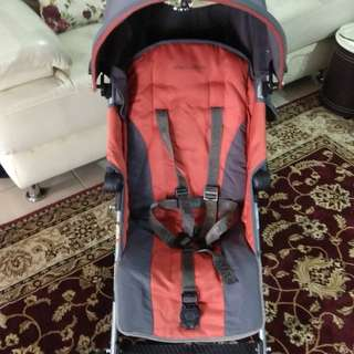 Preloved Maclaren Quest (Orange+Charcoal) Stroller