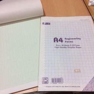 數學用A4 graphic papers
