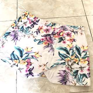 floral skirt new look