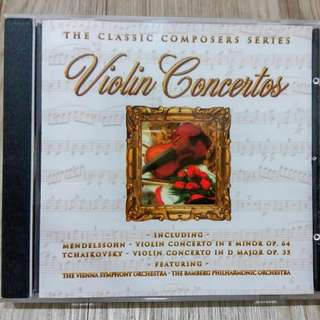 The Classic Composers Series Violin Concertos (CD)