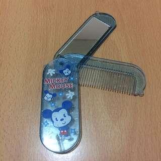 米奇藍色梳連鏡