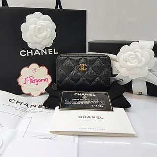 Authentic BNIB Chanel Quilted Caviar Zippy Card Holder GHW {{ Only For Sale }} ** No Trade ** {{ Fixed Price Non-Neg }} ** 定价 **