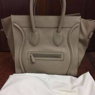 Celine Mini Luggage Tote in Grained Leather