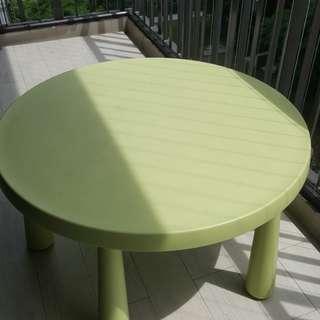 Ikea  Green Round Kids Table