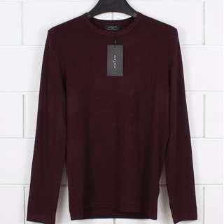 ara Man Viscose Sweater Maroon original not uniqlo selvedge hnm bershka pull n bear converse nike adidas vans