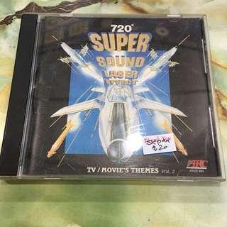 SUPER SOUND LASER EFFECT TV/MOVIE'S THEMES Vol 2 Japan CD