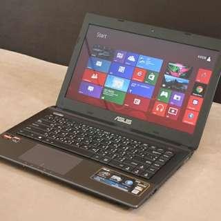Cash / Credit Laptop Asus Amd A8 X454YA
