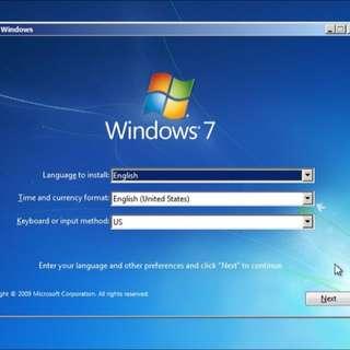 Format Windows'7professional 32bit
