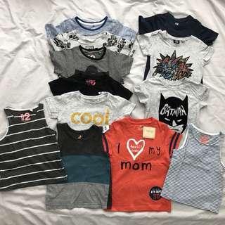 2y toddler boys clothes tops singlets shirts t shirts tshirts clothes bundle