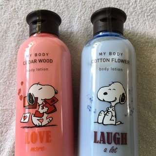 Innisfree body lotion Snoopy limited edition