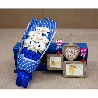 MMK 4Colour Bear&Rose Soap Flower Bouquet(New Design&Creative)