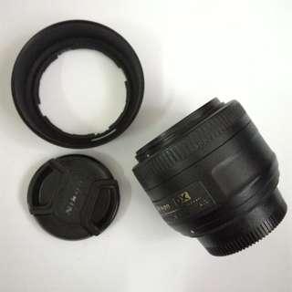 Lens nikon 35mm 1.8g dx nikkor cap used rare dslr