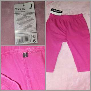 In extenso pink leggings