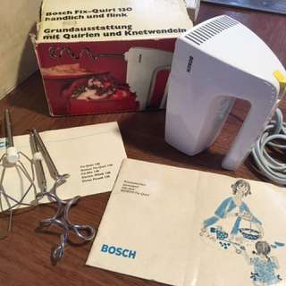 "Vintage, retro unused hand-held mixer ""Bosch Fix-Quirl 130"" - working!"