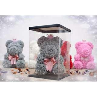 MMK Romantic Rose Bear With Box(New Design&Creative)
