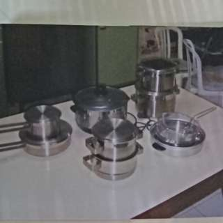 Jual 18pcs cookware set.Top quality stainless