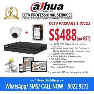 Dahua 1 Camera CCTV Package (CVI1)