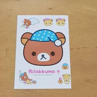 Instock Laptop stickers Rilakkuma