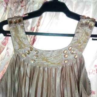 🌻SALE🌻 Preloved Gold Dress