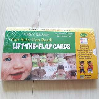 Brand New Your Baby Can Read lift-the-flap Cards