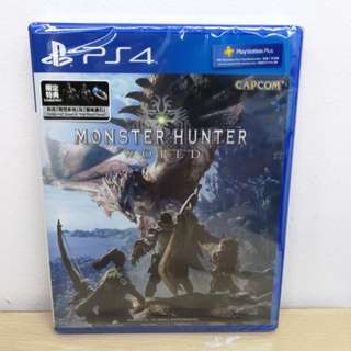 (Brand New) PS4 Monster Hunter World / R3
