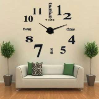 Giant wall clock acrylic 80 ~ 130 cm