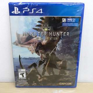 (Brand New) PS4 Monster Hunter World / R1