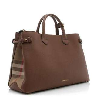 100% genuine Burberry Banner Leather tote bag Brown colour