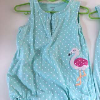 Carters baby romper , 2 pc