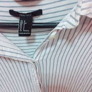 FOREVER21 Long Sleeves Stripes (Small)