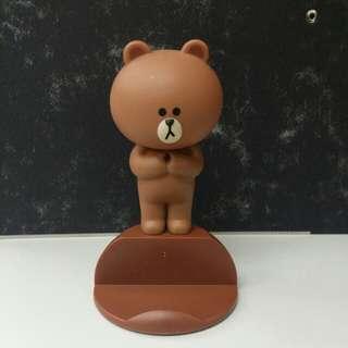 line friends 熊大Brown / choco 電話座 手機架