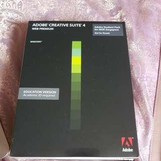 Adobe creatibe suite 4 web premium sealed