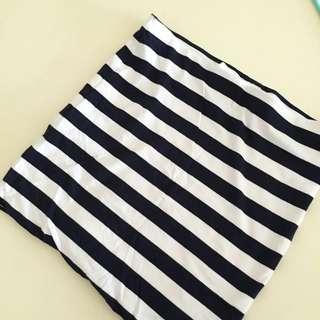 [H&M] Stripe Tube Skirt