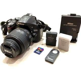 Nikon D5200 + 18-55mm VR Lens Kit (Full Set)