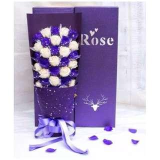 MMK 33pcs Rose Soap Flower Bouquet(New Design&Creative)