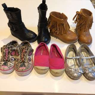 5x Girls (6) Shoe Bundle