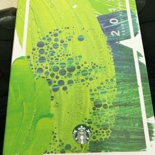 Brand new Starbucks planner (large green)