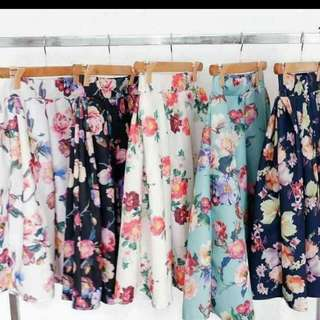 Floral Skater Skirt   🌸💮🏵🌹🌺🌻🌼🌷