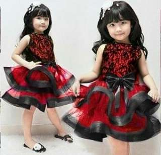 hanna red kids dress