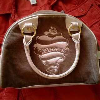 Victoria's Secret small velour hand bag
