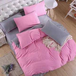 Plain Colors 100% COTTON 4 in 1 Bedsheets Set