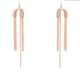 Mimco Rose Gold Pipette Earrings