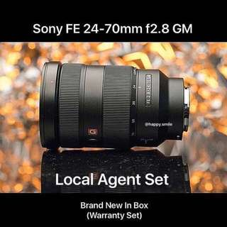( Temporary Out of Stock ) Sony FE 24-70 f2.8 GM Lens
