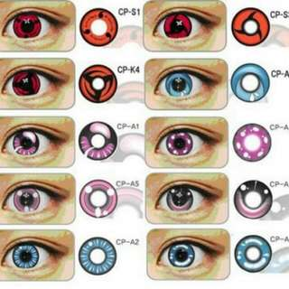 READY STOCK! - SOFTLENS GEO ANIMATION / CRAZY LENS / NARUTO SOFTLENS 14MM