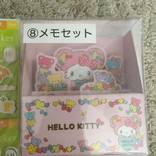 Hello kitty memo set